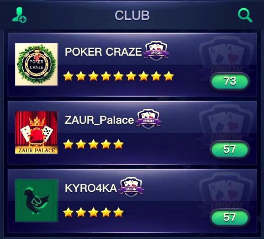 Клубы ПППокер
